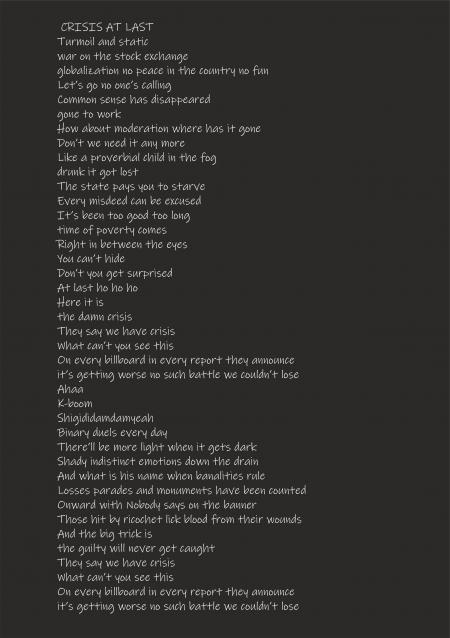 Nareszcie kryzys - tekst - Crisis at last - Lyrics